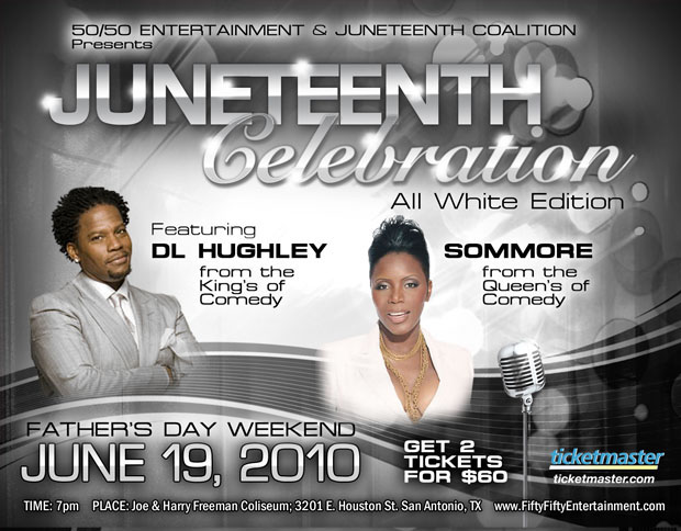 JUNETEENTH CELEBRATION All White Edition Comedy Show / Concert